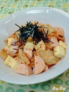 お魚ソーセージ◆キムチーズマヨ和え