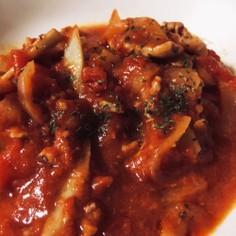 豚肉とごぼうのトマト煮込み