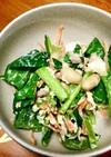 小松菜とシーチキンのまぜまぜサラダ