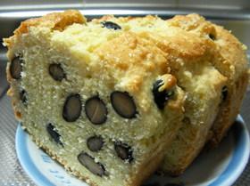 ノンオイル・ノンシュガー黒豆おからケーキ