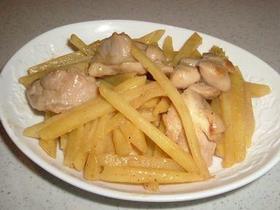 鶏肉とじゃがいものマヨ味噌炒め♫♬