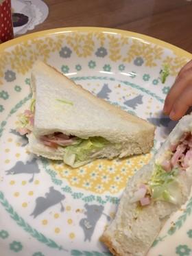 幼児食に簡単サンドイッチ