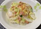 シャキッと白菜と納豆✤麺つゆマヨ和え