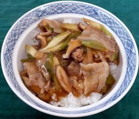 豚バラ肉の生姜風味あんかけ丼