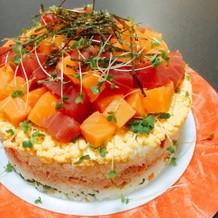 簡単✤ちらし寿司ケーキ Xmas❦誕生日