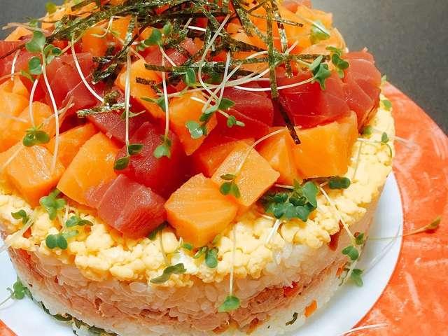 簡単✤ちらし寿司ケーキ お正月❦誕生日