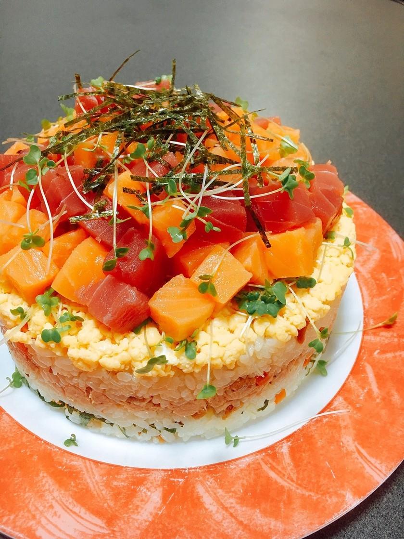 簡単✤ちらし寿司ケーキ お盆❦誕生日