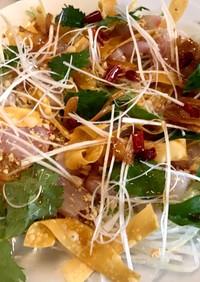 三つ葉でもアジアンなお刺身サラダ
