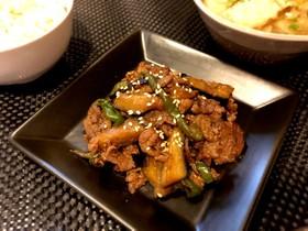 焼肉のタレ活用♪牛肉の中華炒め