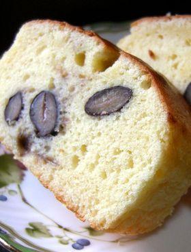 牛乳パック★混ぜて焼くだけ黒豆ケーキ