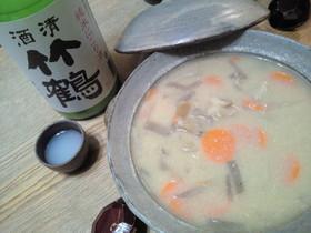 禁断の酒精強化土鍋粕汁