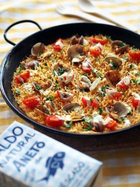お魚スープのフィデウア(パスタパエリア)