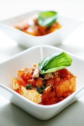 イタリア風「厚揚げのトマトソース煮」