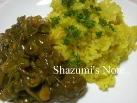 白菜とひよこ豆の無水カレー