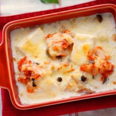 キムチのグラタン豆乳スープ