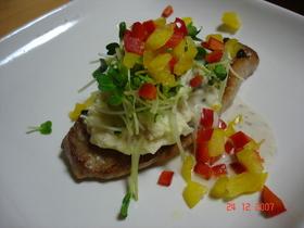 ポテトサラダde素敵なステーキ