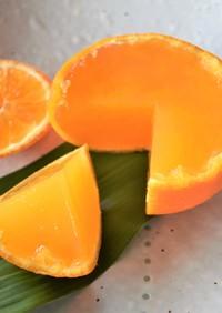オレンジ丸ごと寒天