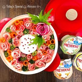 薔薇のカマンベールチーズリース鍋