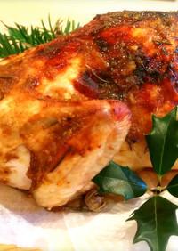 甘辛グレイビーソースの丸鶏ローストチキン