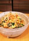 キムチと豆もやしとニラとエノキのナムル