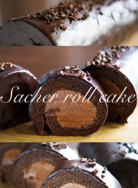 ザッハロール/チョコでクリスマスケーキ