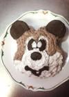 ミッキー立体フェイスケーキ