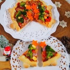 クリスマス★パン生地でツリーピザ