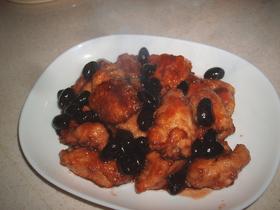 鶏胸肉と黒豆コラボ♪