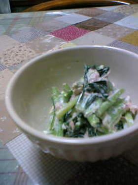 簡単!小松菜ツナマヨあえ