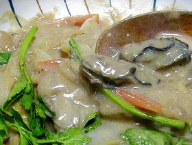 牡蠣の味噌クラムチャウダー風