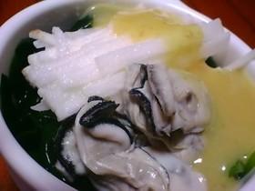 山芋とわかめと牡蠣の酢味噌かけ♪