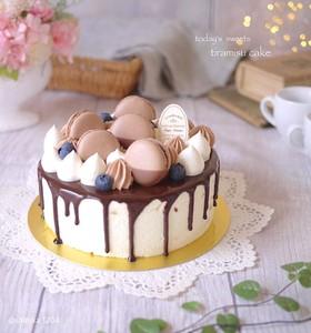 ドリップケーキに♡ココアグラサージュ♡