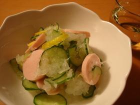 魚肉ソーセージのおろし和え♥