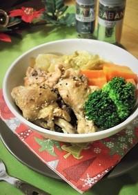 圧力鍋で♪手羽元と白菜のローリエ醤油煮込
