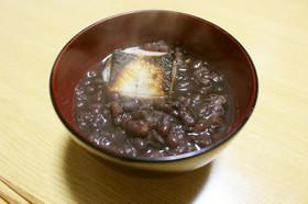 黒豆煮汁リメイク♪小豆の黒ぜんざい