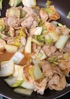 白菜と豚肉のピリ辛味噌炒め