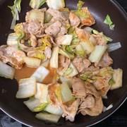 白菜と豚肉のピリ辛味噌炒めの写真