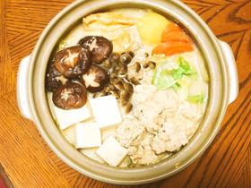 きのこ豆乳鍋