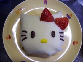 ホットケーキミックスで白キャラクレープ♪