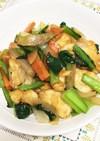 鶏むね肉と野菜のオイマヨ炒め