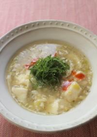大葉と豆腐のとろみスープ