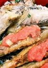 サムライ特製ししゃもと鰯揚焼めんたい丼❤
