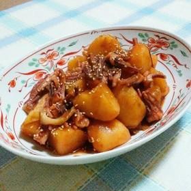 イカゲソとじゃがいもの韓国風煮