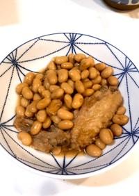 大豆と手羽先の煮物