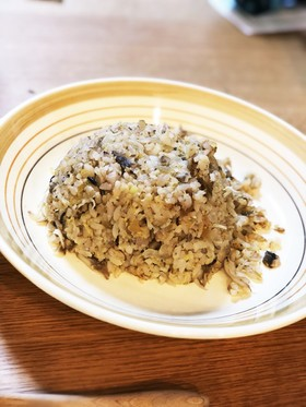 奈良漬とシラスの炒飯