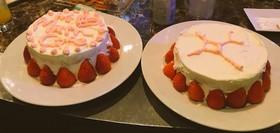 食べられるトロピカル幾何学ケーキ