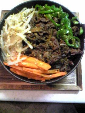 牛肉とごぼうの炒め煮乗せ和風ビビンバw