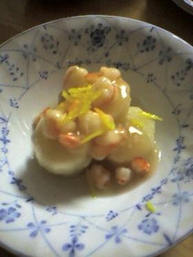 長芋の含め煮えびあんかけ