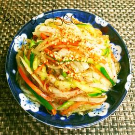 モミモミ簡単副菜♡三色野菜のネバネバ漬け