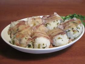 豚ばら肉と高菜漬けの肉巻きおにぎり